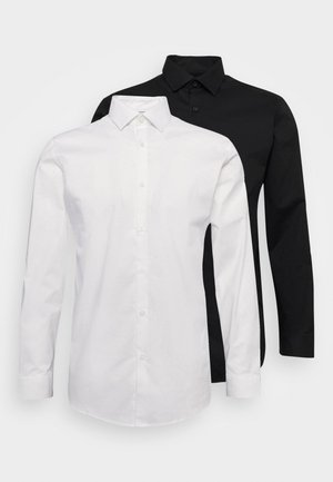 SLHSLIMBROOKLYN SHIRT 2 PACK - Zakelijk overhemd - white/black