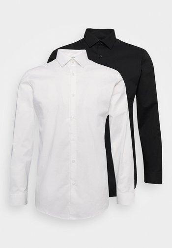 SLHSLIMBROOKLYN SHIRT 2 PACK - Camicia elegante - white/black