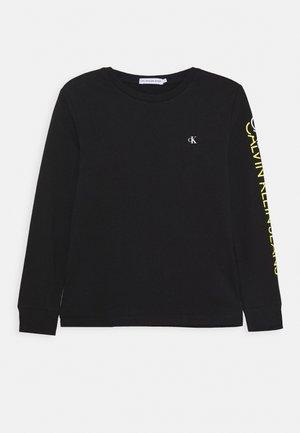 REPEAT LOGO - Pitkähihainen paita - black