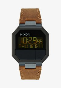 Nixon - RE-RUN - Digitální hodinky - black / brown - 2