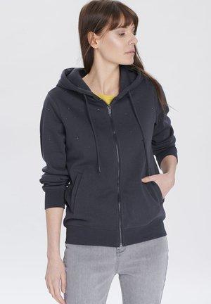 Sweater met rits - graphite