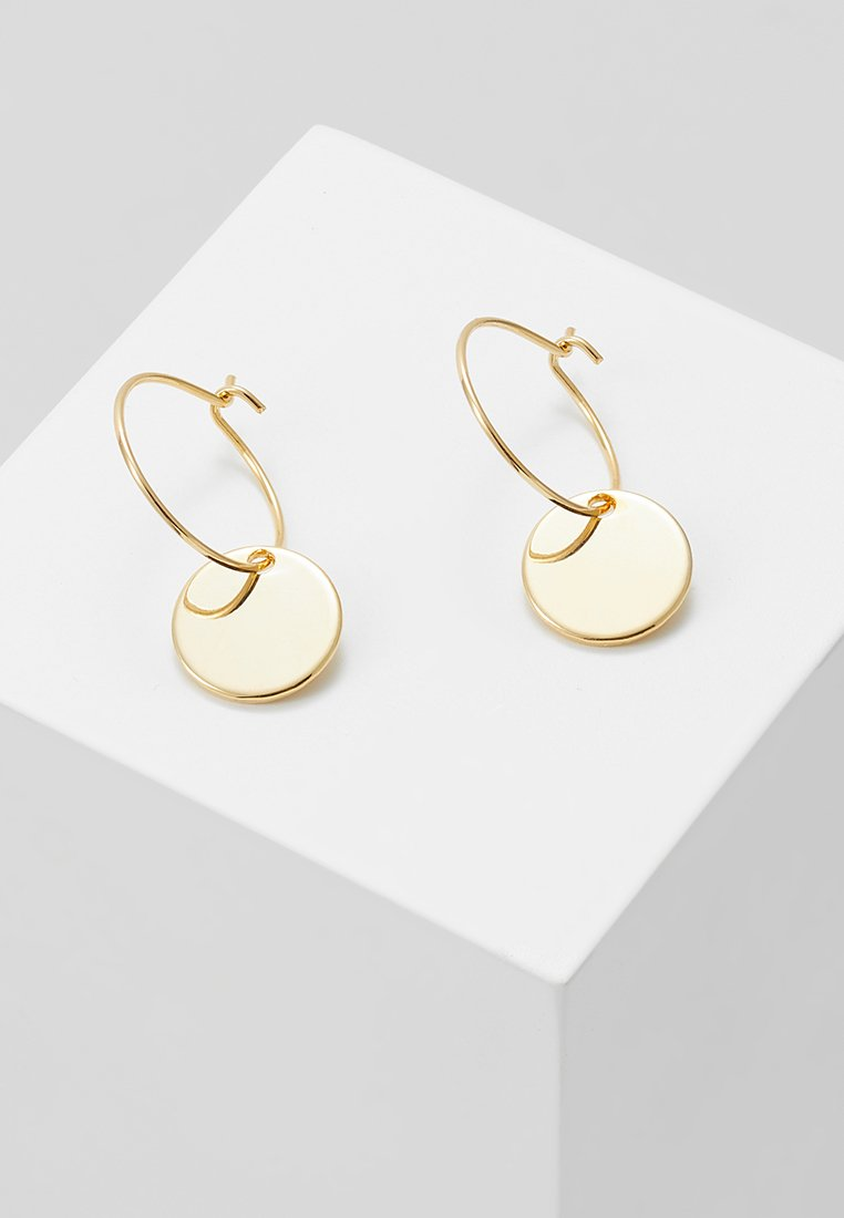 Orelia - MINI COIN HOOP EARRING - Pendientes - pale gold-coloured