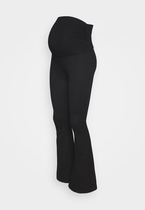 FLARED LEGGING - Leggingsit - black