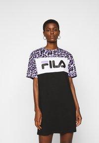 Fila Tall - ALLI TEE DRESS - Jersey dress - black/sand verbena/bright white - 0