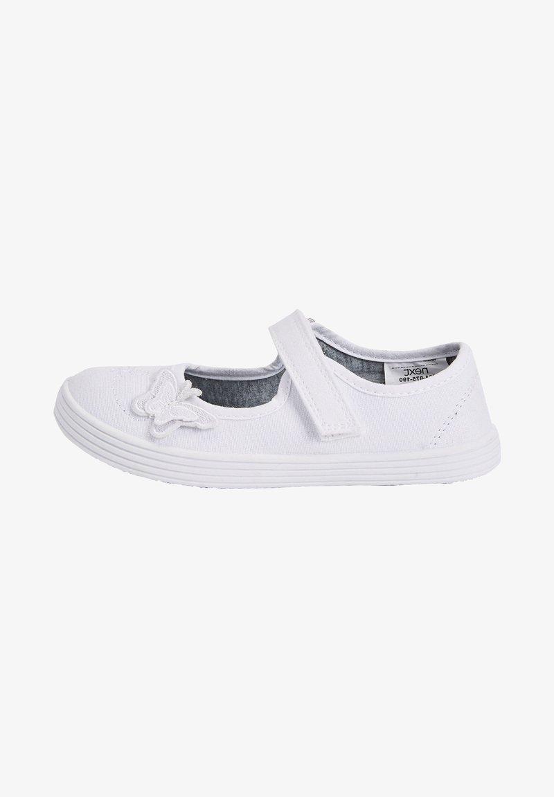 Next - Ankle strap ballet pumps - white