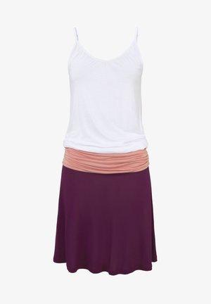 Jersey dress - bordeaux-apricot