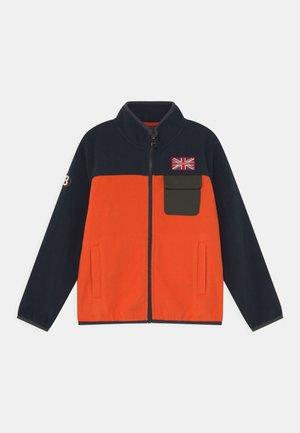 Fleecová bunda - navy/orange