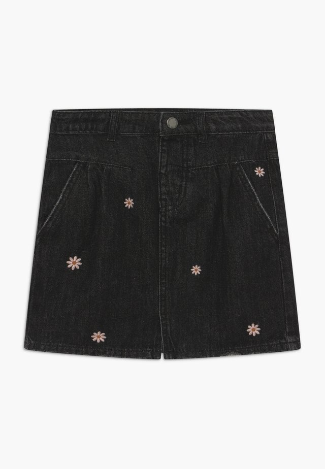 KIRSTIE - Gonna di jeans - black