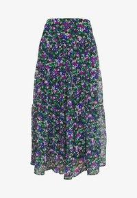 Lauren Ralph Lauren - CRINKLE SKIRT - Áčková sukně - black/multi - 4