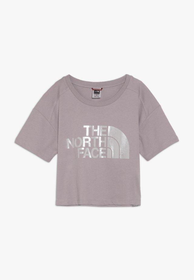 CROPPED - Print T-shirt - ashen purple