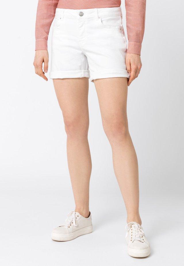 Short en jean - weiß