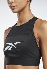 Reebok - WORKOUT READY HIGH NECK SPORTS BRA - Light support sports bra - black - 3