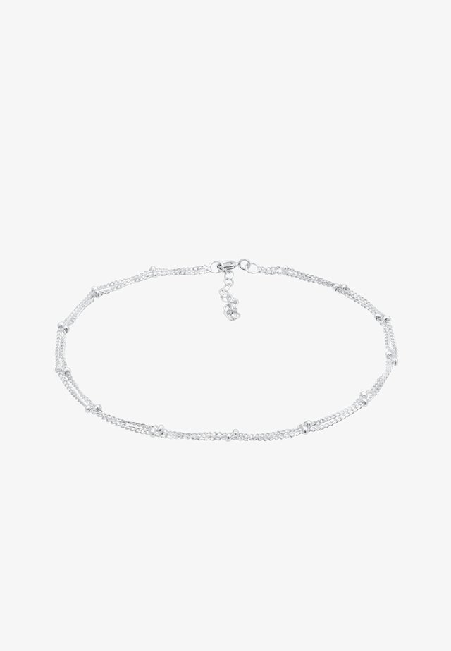FUSSSCHMUCK KUGELKETTE  - Armband - silver-coloured
