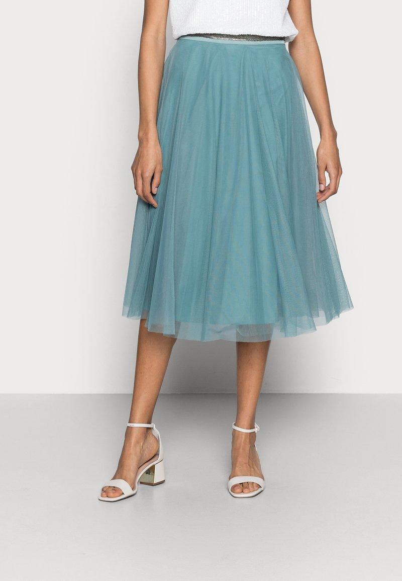 Esprit Collection - SKIRT - Spódnica trapezowa - dark turquoise