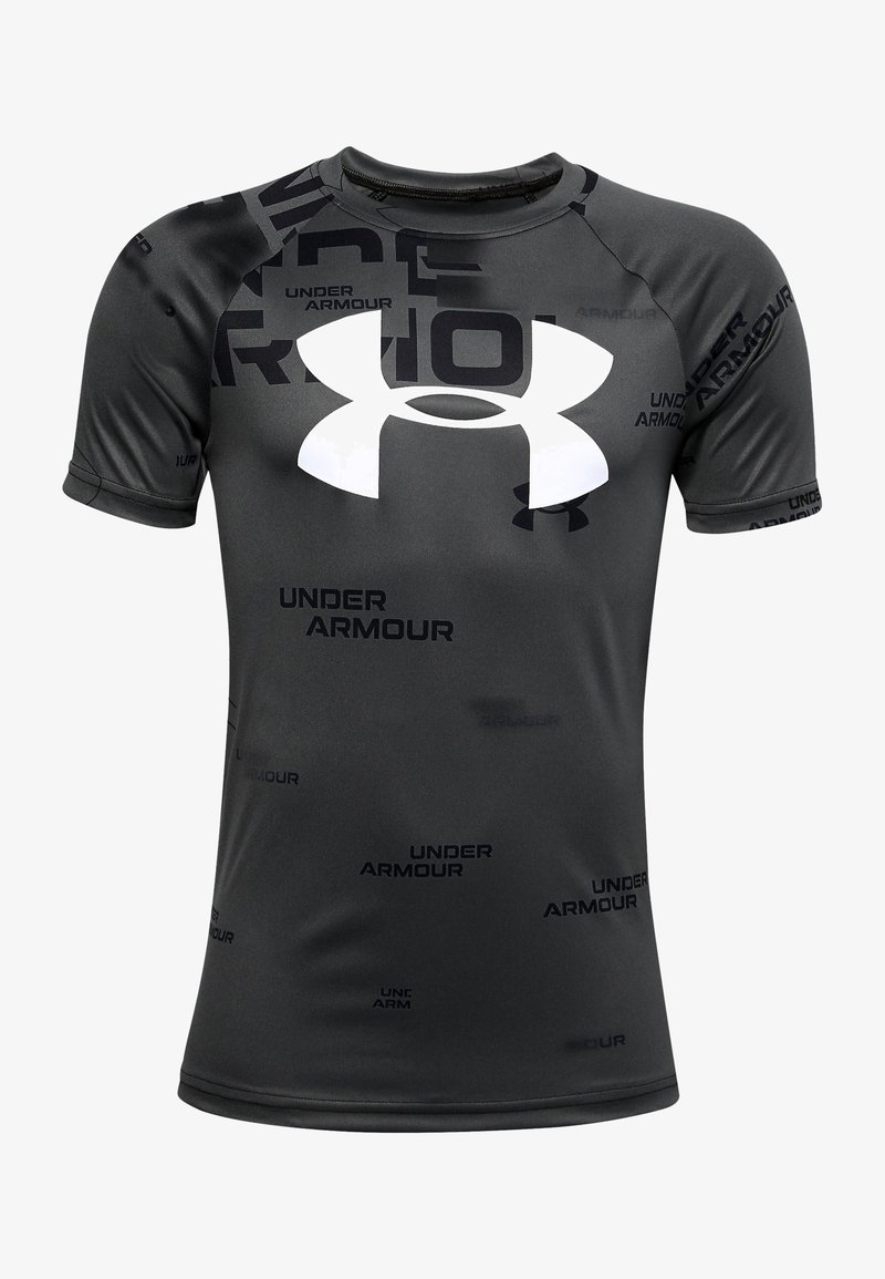 Under Armour - TECH BIG LOGO PRINTED  - Print T-shirt - black