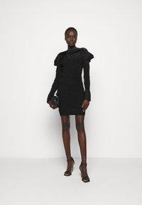Hervé Léger - PUCKERED STITCH RUFFLE MINI DRESS - Cocktail dress / Party dress - black - 1