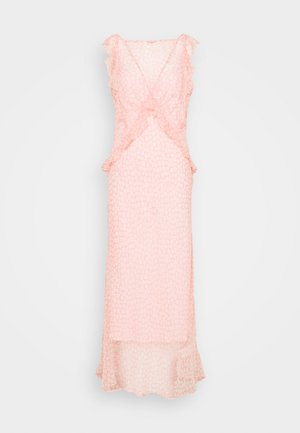 OPEN BACK DRESS - Maxi šaty - pink/white