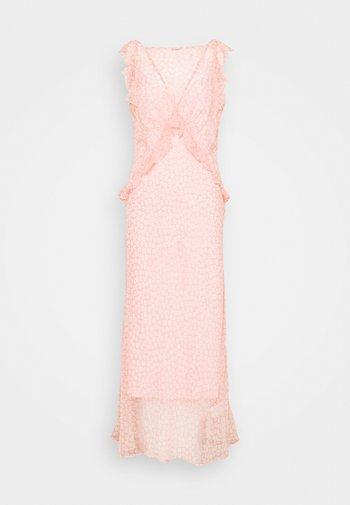 OPEN BACK DRESS - Maksimekko - pink/white