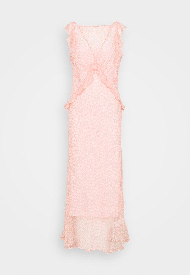 OPEN BACK DRESS - Robe longue - pink/white