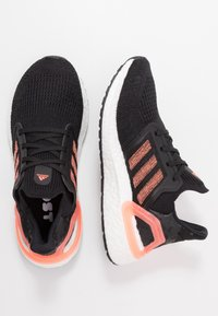 adidas Performance - ULTRABOOST 20  - Neutral running shoes - core black/signal coral/footwear white - 1