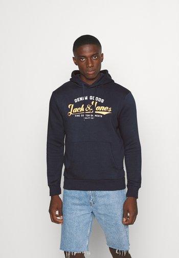 JJELOGO HOOD - Hoodie - navy blazer