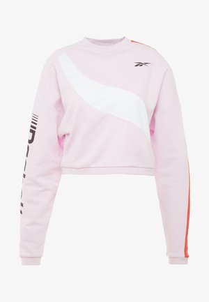 WOR COLORBLOCKED CREW - Sweatshirts - pink