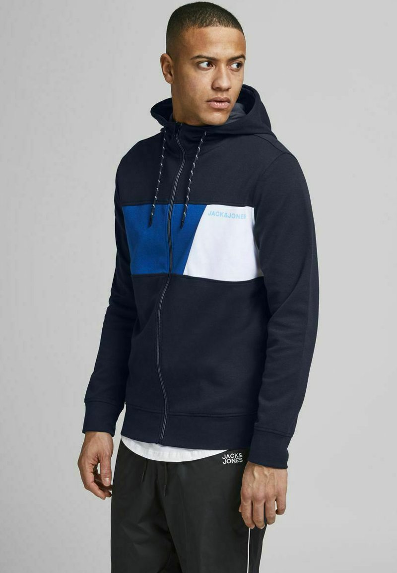 Jack & Jones - Felpa aperta - navy blazer