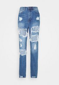 Missguided Tall - RIOT HIGH RISE RIPPED  - Relaxed fit jeans - blue - 0