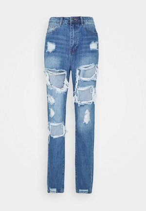 RIOT HIGH RISE RIPPED  - Jean boyfriend - blue