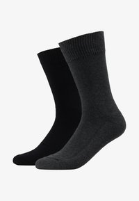 Levi's® - CUSHIONED REGULAR CUT 2PACK - Socks - anthracite melange/black - 1