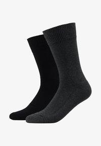 CUSHIONED REGULAR CUT 2PACK - Socks - anthracite melange/black