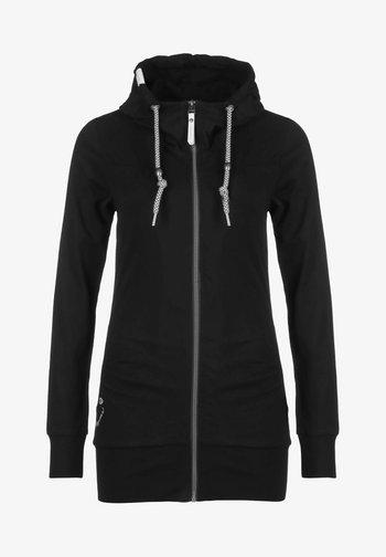 ABBIE - Zip-up sweatshirt - black