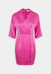 Closet - CLOSET WRAP MINI PENCIL DRESS - Vestido de cóctel - pink - 0