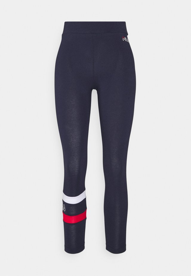 JACY 7/8 - Legging - black iris/bright white/true red