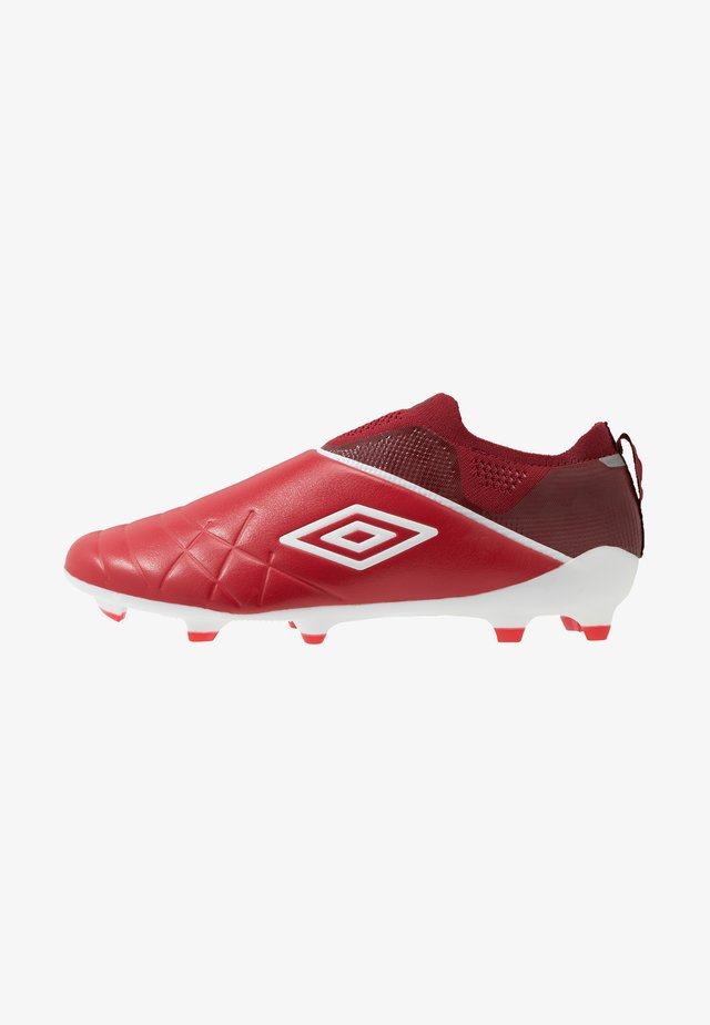 MEDUSÆ III ELITE FG - Moulded stud football boots - toreador/white/merlot