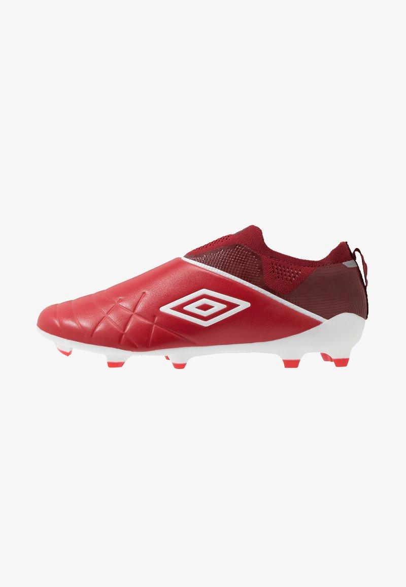 Umbro - MEDUSÆ III ELITE FG - Moulded stud football boots - toreador/white/merlot