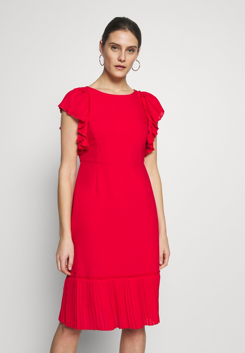 Apart - DRESS WITH VOLANTS - Vestito elegante - red