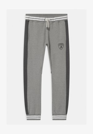 COLOR BLOCK - Tracksuit bottoms - grey antares