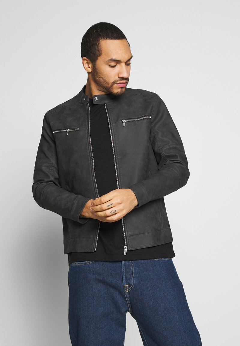 Only & Sons - ONSFAVOUR JUPITER  - Faux leather jacket - phantom