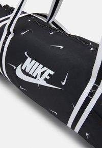 Nike Sportswear - HERITAGE DUFF - Sports bag - black/black/white - 3