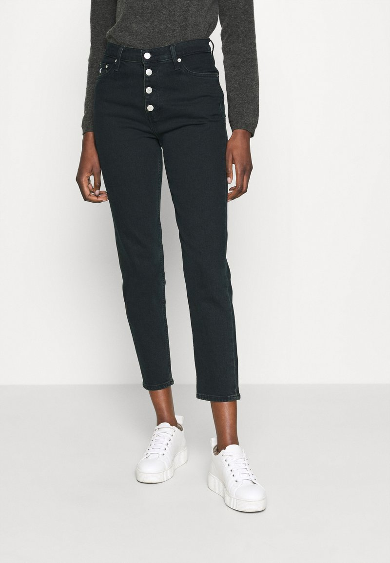 Calvin Klein Jeans - MOM - Relaxed fit jeans -  blue black shank