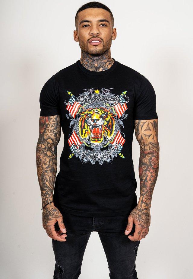 TIGER LOS T-SHIRT - T-shirt med print - black