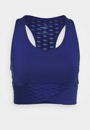 MID IMPACT FLAWLESS BRA - Medium support sports bra - elektro blue