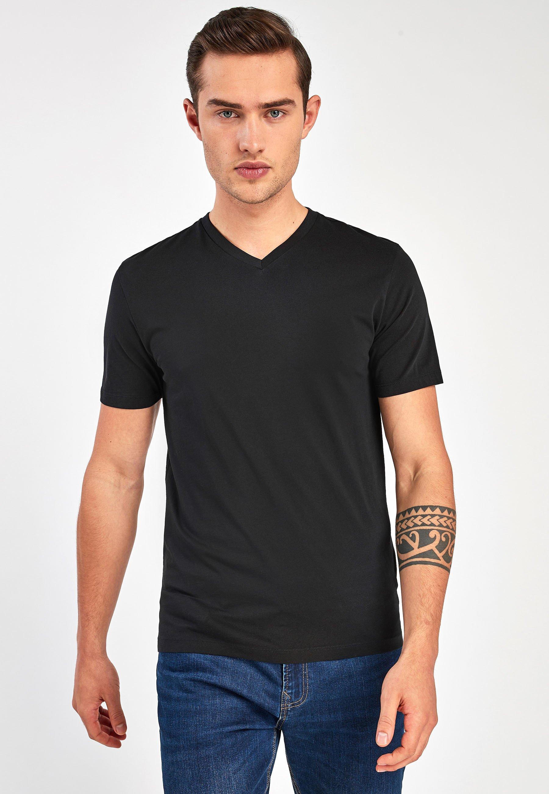 Uomo V-NECK T-SHIRT-SLIM FIT - T-shirt basic