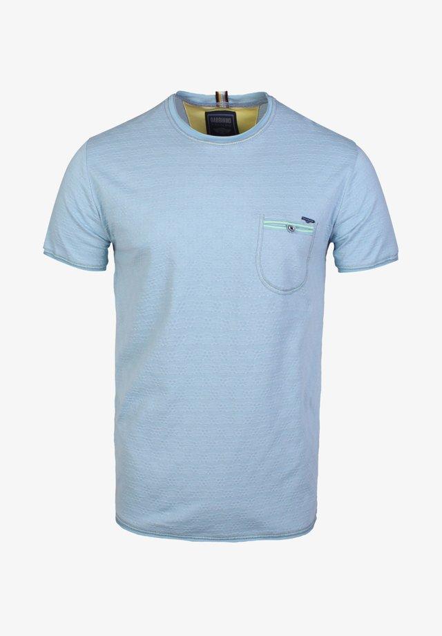 T-shirt basic - pebble blue