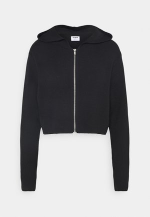 ZIP CARDIGAN - Kardigan - black