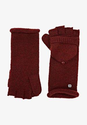 Fingerless gloves - garnet red