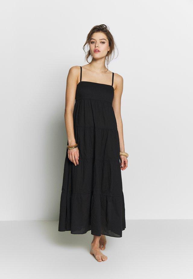 SAFARI SPOT-TIERED DRESS - Vestito estivo - black