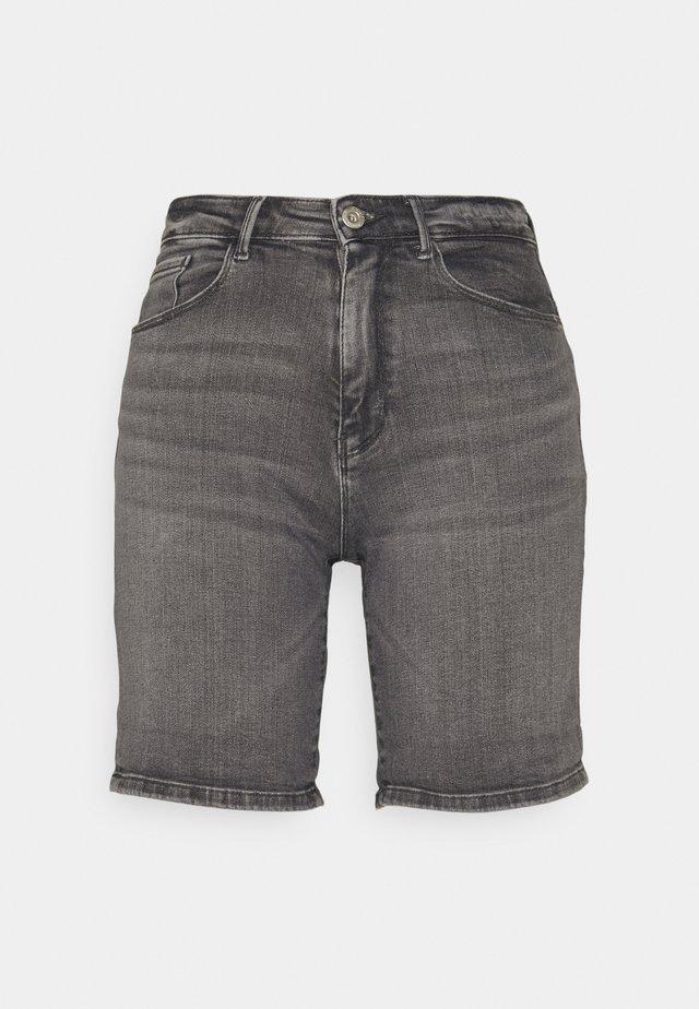 ONLPAOLA LIFE - Denim shorts - medium grey