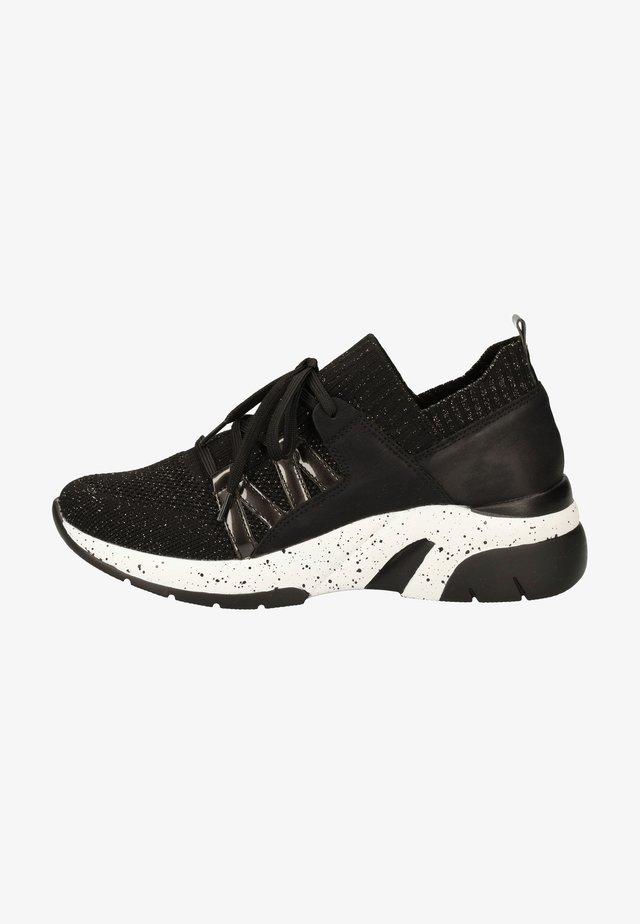 Sneakersy niskie - schwarz-metallic/blei/nero /